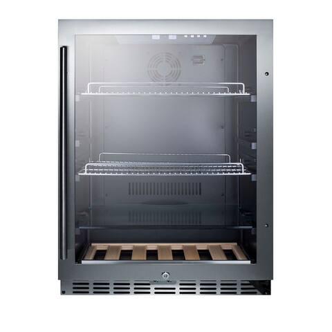 """Summit SCR2466 24"""" Wide 5.8 Cu. Ft. Built-In Beverage Center with Door Lock"""