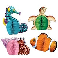 Club Pack of 48 Sea Creatures Playmates Table Top Centerpiece Decorations 5.5' - Multi