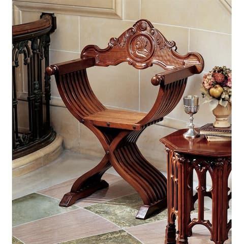Design Toscano The Savonarola Chair: Set of Two