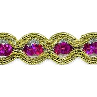 "River Sequin And Cord Trim 5/8""X20yd-Fuchsia"