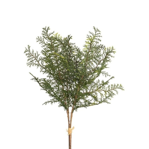 """Pack of 6 Unique Artificial Green Cypress Christmas Bundle Sprays with Pine Cones 17"""" - brown"""
