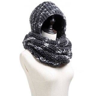 Mad Style Black Hoodie Knit Infinity Scarf