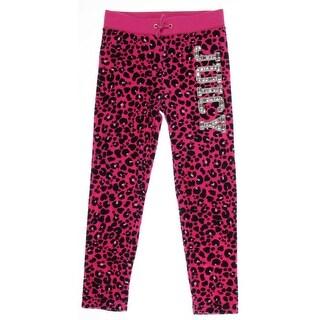 Juicy Couture Girls Sweatpants Velour Leopard - 6