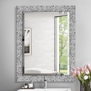 Mirror Trend Framed Mosaic Accent Mirror