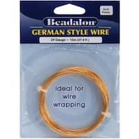 Gold Round - 24 Gauge; 37.4' - German Style Wire