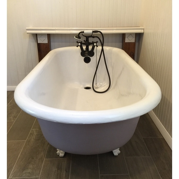 Shop Tub Wall Mount Oil Rubbed Bronze Clawfoot Tub Faucet Free