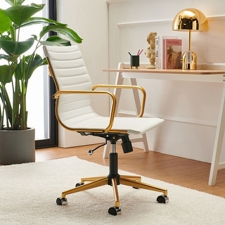 Link to LuxMod Adjustable Swiveling Goldtone Office Chair Similar Items in Office & Conference Room Chairs