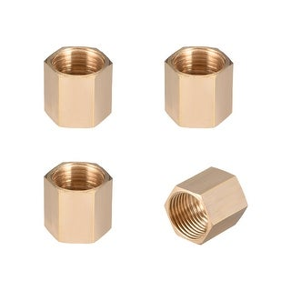 "Brass Pipe Fitting,1/2"" G Female Thread Straight Brass Hex Rod Pipe Fitting 4pcs - 1/2"" G Female 4pcs"