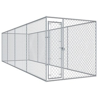 """Link to vidaXL Outdoor Dog Kennel 299""""x75.6""""x78.7"""" Similar Items in Dog Containment"""