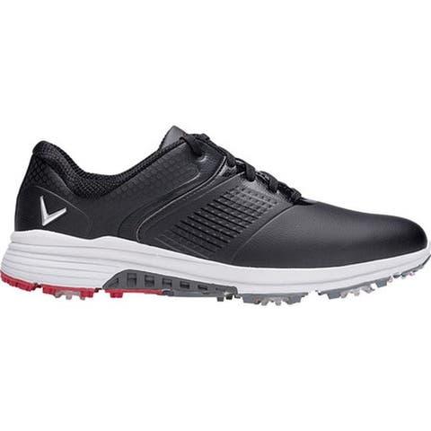 Callaway Men's Solana TRX Waterproof Golf Shoe Black Microfiber Leather
