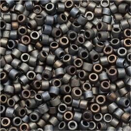 Miyuki Delica Seed Beads 15/0 Matte Metallic Silver Grey DBS307 4 GR