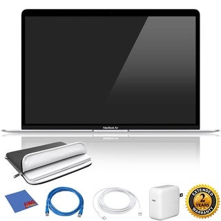 Apple 13.3 MacBook Air + Essential Accessories + Special 2 Year Extended Warranty Silver - 128 GB