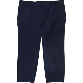 Link to Charter Club Womens Solid Casual Cropped Pants, blue, 18W Similar Items in Pants
