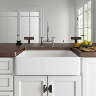 Link to Eridanus Rio 33-in Farmhouse Apron-Front Kitchen Sink Similar Items in Sinks