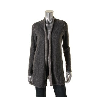 Eileen Fisher Womens Petites Heathered Long Sleeves Cardigan Sweater - ps