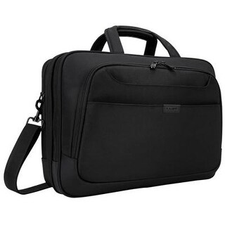 "Targus Tbt275 Blacktop Deluxe Checkpoint-Friendly Briefcase With Dome Protection For 17"" Laptop, Black"
