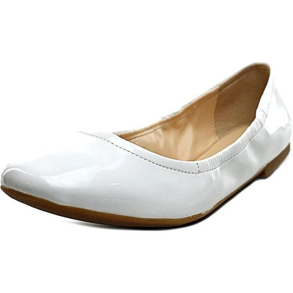 Nine West Girlsnite Women Round Toe Synthetic White Flats