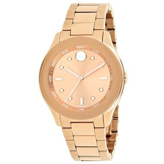 Movado Women's Bold Rose gold Dial Watch