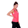 Simply Ravishing Women's Sheer Low V Neck Sleeveless Layered Chiffon Blouse Tank Top - Thumbnail 9