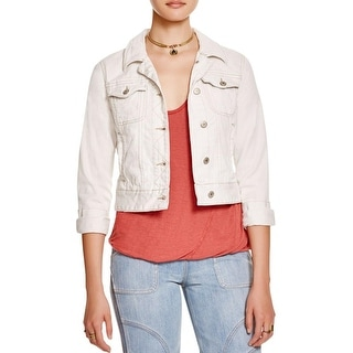 Free People Womens Denim Jacket Denim Fitted