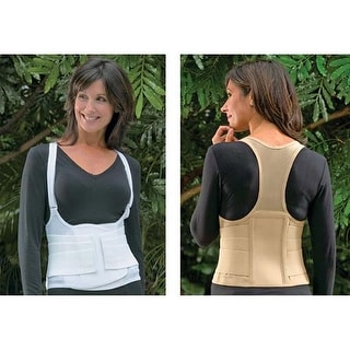 Women's Original Cincher Back Posture Spinal Alignment Support - Tan - Medium