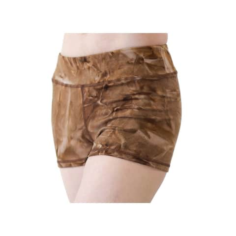 Veva by Very Vary Girls Chocolate Drizzle Mini Tie-Dye Shorts