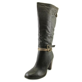 Two Lips Sleek Women  Round Toe Leather  Knee High Boot