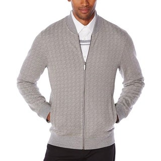 Perry Ellis Mens Track Jacket Jacquard Long Sleeves