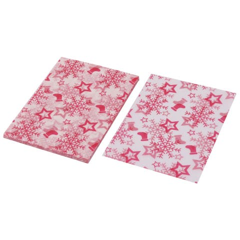 Birthday Wedding Snowflake Pattern Candy Sugar Chocolate DIY Packaging Wrapping Paper 100pcs