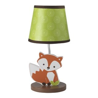 Bedtime Originals Orange Friendly Forest Lamp with Shade & Bulb