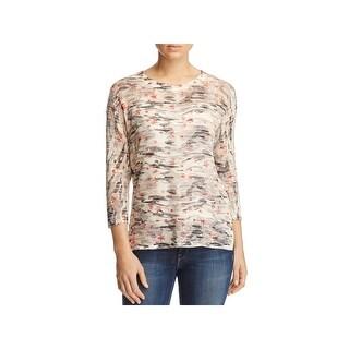 Nally & Millie Womens Tunic Sweater Hi-Low Print