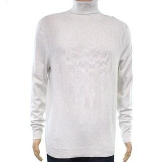 Alfani Gray Heather Mens Size XL Ribbed Knit Turtleneck Sweater