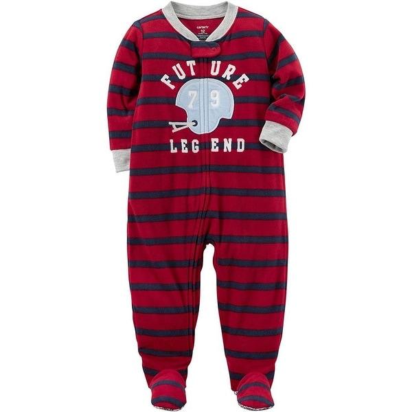 Carters Boys 18 Months Helmet Fleece Pajama - Red