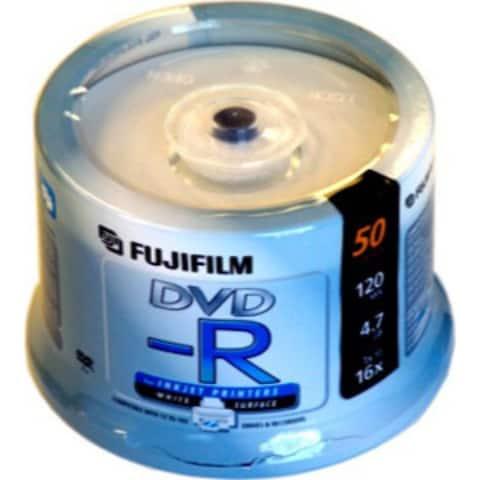 Fuji DVD-R, 600004139, 4.7GB, 16X, White Inkjet Printable, 50PK Spindle