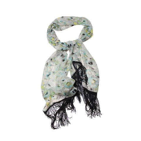 Cejon Aqua Multi Fringed Poppy Love Wrap OS