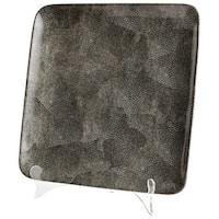"""Cyan Design Large Mamba Tray  Mamba 13.25"""" Wide Ceramic Tray - Grey"""
