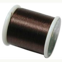 Japanese Nylon Beading K.O. Thread for Delica Beads - Brown 50 Meters