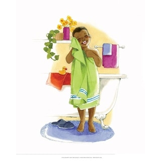 ''Bath Time Giggles (Boy)'' by Sylvia Walker African American Art Print (10 x 8 in.)