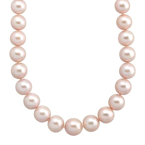 """12-16 mm Pink Ming Freshwater Pearl Strand Necklace in 14K Gold, 20"""""""