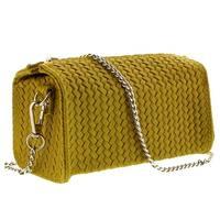 HS1152 GL PIA Yellow Leather Wristlet/Crossbody Bag