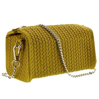 HS1152 GL PIA Yellow Leather Wristlet/Crossbody Bag