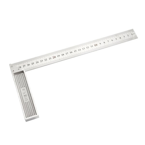 Right Angle Ruler 300mm Stainless Steel Dual Side Scale L Shape Square 90 Degree