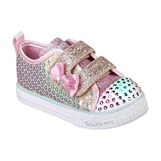 Skechers Kids Girls' Shuffle Lite-Mini Mermaid Sneaker, Gold, 5.5 Medium Us Toddler