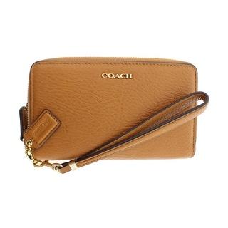 Coach Womens Madison Leather Zip Around Wristlet Wallet
