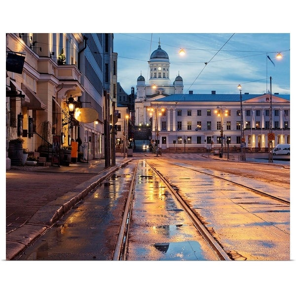 """Helsinki after the rain"" Poster Print"