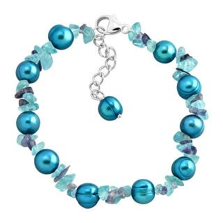Honora Teal Freshwater Pearl Bracelet with Natural Iolite & Apatite Chips in Sterling Silver - Blue|https://ak1.ostkcdn.com/images/products/is/images/direct/6568cf086d80ac638ffa354e9a24f678fd81e4c2/Honora-Teal-Freshwater-Pearl-Bracelet-with-Natural-Iolite-%26-Apatite-Chips-in-Sterling-Silver.jpg?impolicy=medium