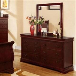 Furniture Of America IDF-7815M Laurelle Cherry Traditional Mirror