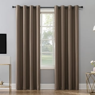 Sun Zero Niko Textured Grid Thermal Extreme 100% Total Blackout Grommet Curtain Panel