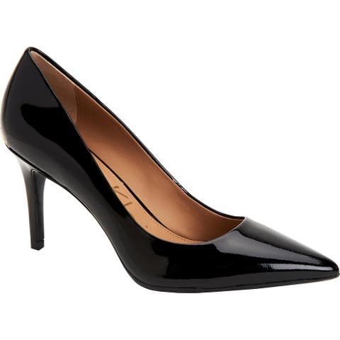 Calvin Klein Gayle Women's Patent Leather Pointed Toe Pumps Shoes