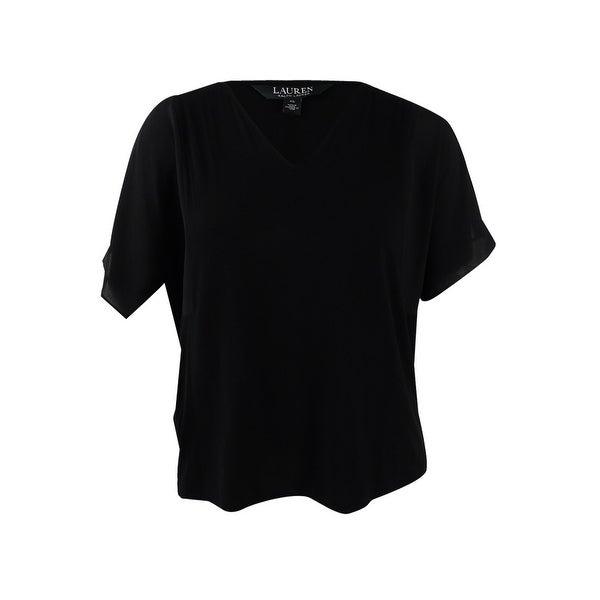 8fa1c25a Shop Lauren Ralph Lauren Women's V-Neck Cold Shoulder Pullover Top (XL, Polo  Black) - Polo Black - XL - On Sale - Free Shipping On Orders Over $45 ...